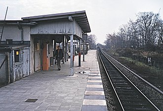 Buckower Chaussee station - Temporary platform in 1986, looking to the south