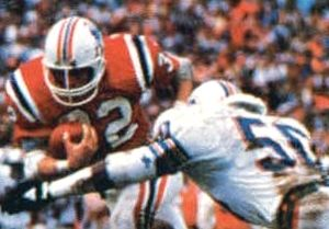 Jackie Shipp - Shipp (right) picture in a defensive play during the 1985-86 AFC Championship game