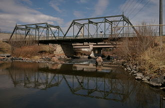 National Register of Historic Places listings in downtown Denver - Image: 19th Street Bridge Denver CO