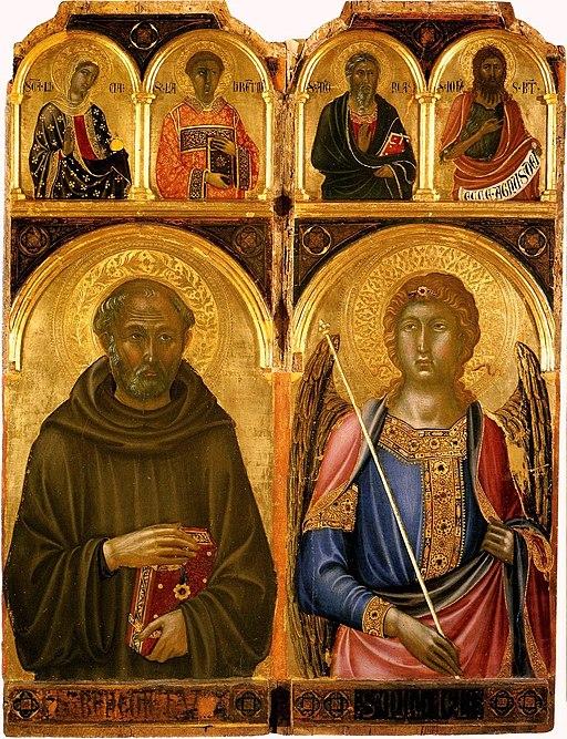 Niccolo di Segna, San Benedetto e Michele arcangelo , ca. 1336, Pinacoteca Nazionale, Siena