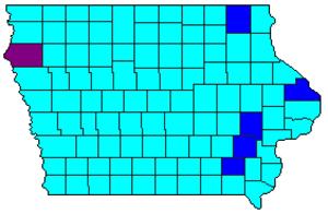 Iowa Democratic caucuses, 2000 - Image: 2000IAdemcaucus