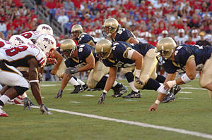 Crab Bowl Classic - A snap during the 2005 game.