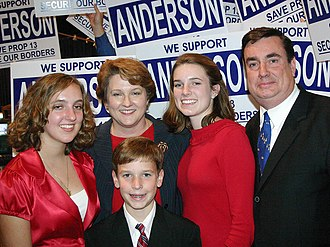 Joel Anderson - Joel Anderson and his family in 2006