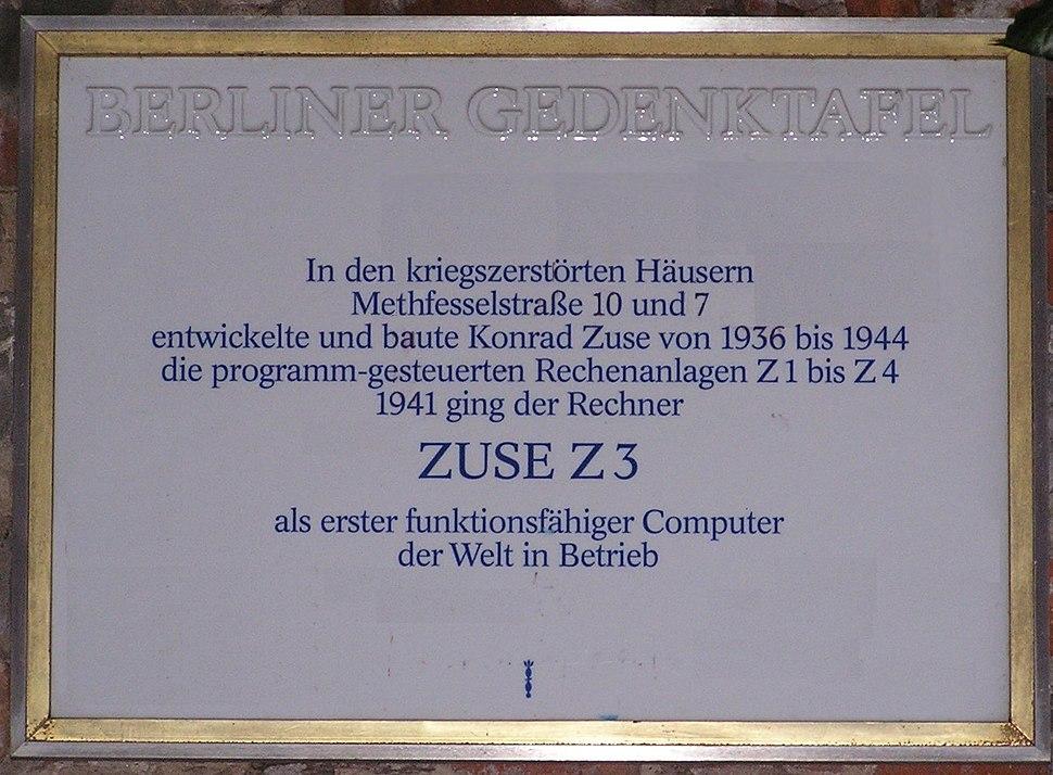 2007-01-20 Gedenktafel Zuse Z3