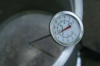 Meat thermometer - A food thermometer in water