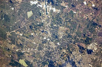 Brownsville, Texas - View from the International Space Station, with the photo centered on east Brownsville