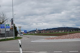 Kirchberg village from a nearby roundabout