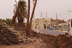 Ruins of Azraq Castle and a street in Azraq