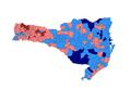 2010 Brazilian presidential election results - Santa Catarina.PNG