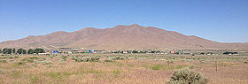 2014-06-12 09 56 50 View of Winnemucca Mountain from Nevada State Route 794 (East Winnemucca Boulevard) in Winnemucca, Nevada-cropped.jpg