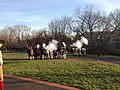2014-12-27 14 56 58 Reenactors exchanging musket fire in Mill Hill Park during a reenactment of the Second Battle of Trenton in Trenton, New Jersey.JPG