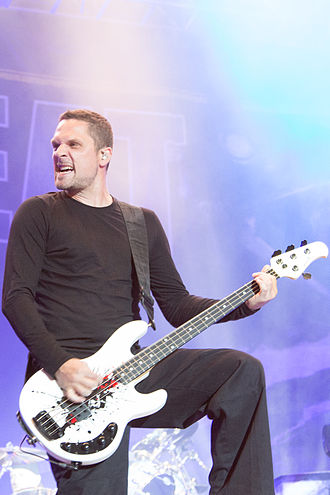 Volbeat - Bassist Anders Kjølholm at Nova Rock 2014