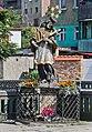 2014 Bystrzyca Kłodzka, posąg św. Jana Nepomucena 04.JPG