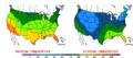 2015-10-27 Color Max-min Temperature Map NOAA.png