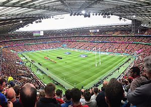 2015 Rugby World Cup Final - Image: 2015 Rugby World Cup, Australia vs. Wales (21485242524) (cropped)