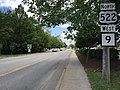2016-06-25 15 19 21 View north along U.S. Route 522 and west along West Virginia State Route 9 (Washington Street) between Market Street and Warren Street in Berkeley Springs (Bath), Morgan County, West Virginia.jpg