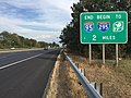 2017-10-06 16 03 01 View north along Interstate 95 two miles south of the northern terminus in Lawrence Township, Mercer County, New Jersey.jpg