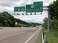 2019-05-17 12 38 23 View west along Interstate 68 and U.S. Route 40 and south along U.S. Route 220 (National Freeway) at Exit 44 (U.S. Route 40 Alternate-Baltimore Avenue, Willow Brook Road) in Cumberland, Allegany County, Maryland.jpg