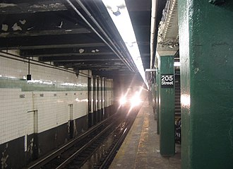 Norwood–205th Street (IND Concourse Line) - Image: 205 street Station