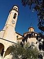 217 Església de Santa Maria (Salomó), façana sud i campanar.jpg