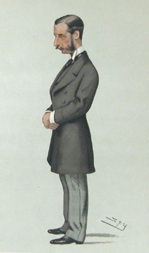 James Hamilton, 2nd Duke of Abercorn - The duke as Marquess of Hamilton by Leslie Ward, 1881