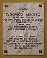 32 San Benedetto - Ferrara - Epigrafi. Ludovico Ariosto.jpg
