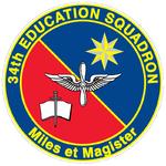 34 Education Sq emblem.png