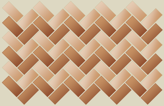 45° herringbone bond