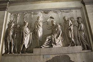 Gaetano Matteo Monti - Gaetano Matteo Monti, Napoleon crowned King of Italy (1807). Originally place in Arco della Pace, but removed,  now in Brera