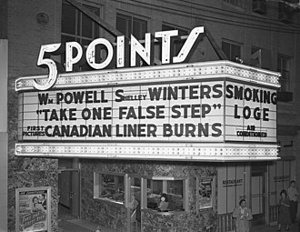 Sun-Ray Cinema - Five Points Theatre in 1949.