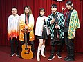5 people standing on the stage with Demon Slayer cosplay clothing 20210321a.jpg