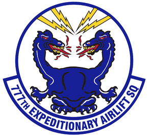 777th Expeditionary Airlift Squadron - Image: 777 Expeditionary Airlift Sq emblem