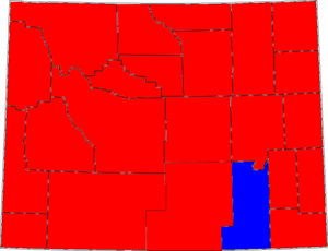 United States Senate election in Wyoming, 1994 - Image: 94WYSenate Counties
