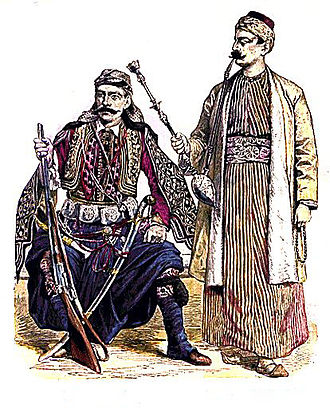 Levant - Old Levantine Custom, Syrian and Lebanese men.