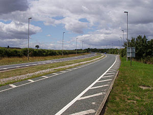 A52 road - Eastern end of the Bingham bypass