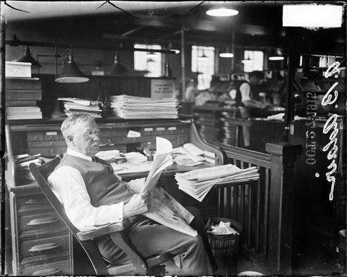 A B Blair Chicago Daily News newsroom