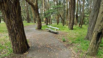 Philosopher's Way, San Francisco - Image: A Bench at Philosopher's Way, San Francisco