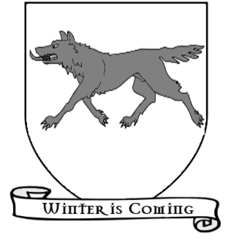 Jon Snow (character) - Coat of arms of the Night's Watch and House Stark