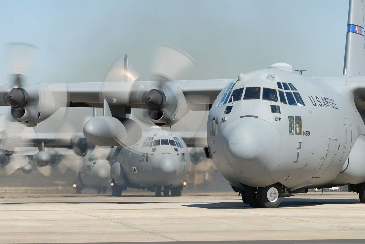 File:A U S  Air Force C-130 Hercules aircraft assigned to
