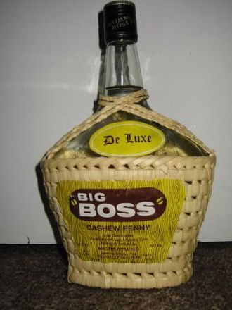Feni (liquor) - A bottle of Big Boss cashew feni