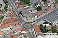 A dorogi körforgalom a városháza előtt, légi fotó.jpg