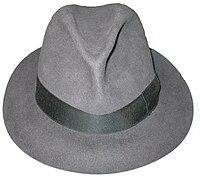 A fedora hat, made by Borsalino.jpg