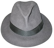 A fedora hat, made by Borsalino.jpg
