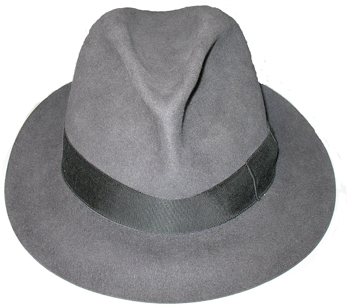 A brimmed hat with a pinched crown that effortlessly elevates any outfit. This hat is still the most prevalent shape because it can be so easily suited to one's personality and features.