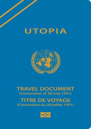 Refugee travel document - A sample Refugee Travel Document