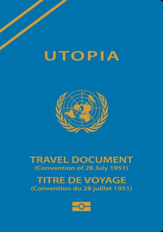 Refugee travel document - A sample Refugee Travel Document