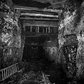 A section of the mine with an unusually high roof due to poor ceiling quality.jpg