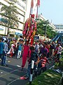 A stilt walker at Shahbag , Dhaka 2.jpg