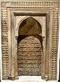Abbasid Mihrab from Samarra, Iraq, carved with Quran verses, 3rd century AH. Iraq Museum.jpg