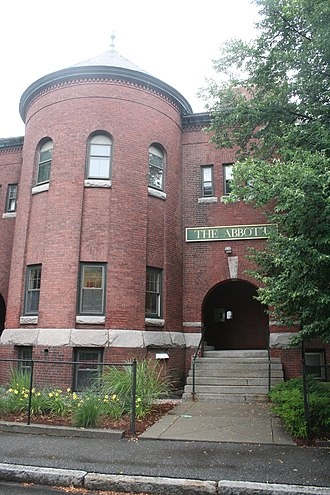 National Register of Historic Places listings in northwestern Worcester, Massachusetts - Image: Abbott St School Worcester MA